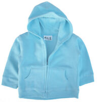 SALE ITEM A single Baby Hoodie with front zip in Light Blue, 6-12 Months