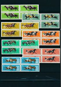 [PG10116] Hungary 1961 Horses good set in block of 4 stamps very fine MNH