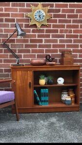 Vintage Low Teak Sideboard Console Table Hall Mid Century RETRO 60s 70s