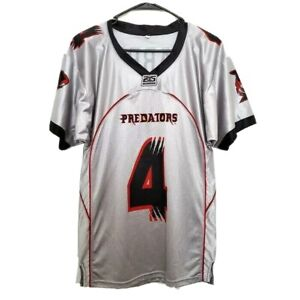 Orlando Predators AFL Trevor Harris 4 Silver 25 Seasons Arena Football Jersey