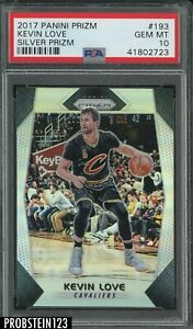 2017-18 Panini Silver Prizm #193 Kevin Love Cleveland Cavaliers PSA 10