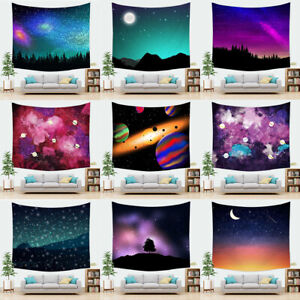 Galaxy Purple Tapestry Cosmic Nebula Psychedelic Space Starry Sky Wall Hanging