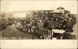 Native American Indian War Dance Publ in York Nebraska NE Real Photo Postcard