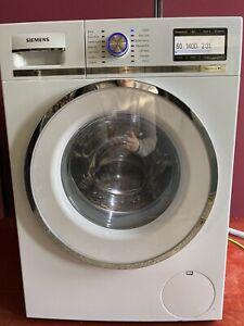 Siemens iQ700 washing machine, 9kg 1400 spin, A+++, rapid 15min wash, drum light
