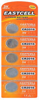 5 x CR2016 3V Lithium Knopfzelle 75 mAh ( 1 Blistercard a 5 Batterien ) EASTCELL