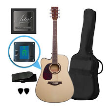 Artist LSPCEQNTL Left Handed Beginner Acoustic Electric Guitar - Natural - New