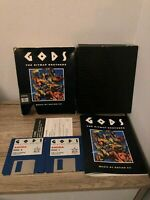 GODS AMIGA THE BITMAP BROTHERS BIG BOX CULT GAME COMPLETE DISKS AND MANUAL
