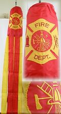 "60"" Embroidered F.D. Fire Dept./ Department 100% Polyester Wind Sock W/Grommets"