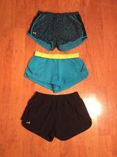 Under Armour Women's Headgear Tempo Shorts Lot Of Three Black Blue Size M