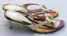 Hot FLOWER POWER Damenschuhe White High Heels 7cm Pumps Sommer Schuhe 40