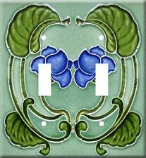 Art Nouveau Illustration Metal Switch Light Cover double plate #2
