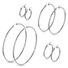 Hoop Earrings Stainless Surgical Steel Hypoallergenic Select Size