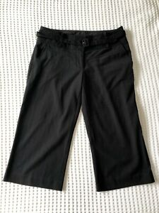 Sportsgirl 8 black low rise belted ¾ pants work