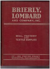 Brierly Lombard Co Catalog Mill Factory Textile Supplies 552pp 1945 vintage D
