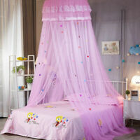 Lace Bed Mosquito Netting Mesh Canopy Princess Round Dome Bedding Net Tent Child