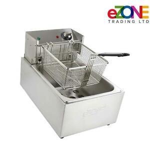 eZone Commercial Electric Single Deep Fat Fryer 10L-2.8kW Catering Takeaway