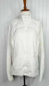 Lululemon Run For Cold Jacket Ivory Water Repelling Women's Size 12