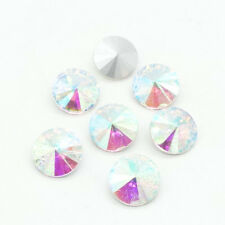 ELEMENTS Rhinestone Crystal glass Rivoli Round Beads 6/8/10/12/14/16/18mm DIY