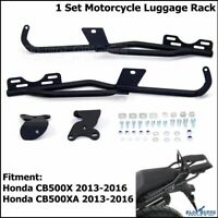 Black Motorcycle Topbox Luggage Rack Carrier Support For Honda CB500X 2013-2016