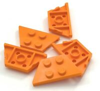 Lego Lot of 5 New Orange Wedges Plates 2 x 4 Parts Pieces