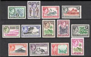 BRITISH SOLOMON ISLANDS 1939 -1951 KING GEORGE VI & LOCAL MOTIVES (MNH/LHM)