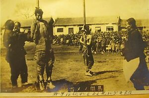 ANTIQUE CHINESE TORTURE JAPANESE? CAPTIVES RARE CHINA EARLY 20th CENTURY PHOTO