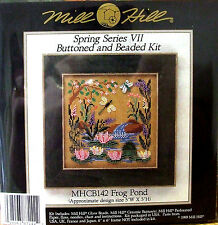 Mill Hill Cross Stitch Kit de grano » Rana Piscina » (con botones y abalorios) Cb142