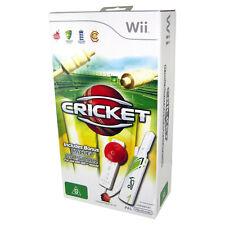 CRICKET Wii GAME Bundle with Ball & Bat PAL AUS *NEW!*