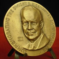Medal 1971 Dwight Eisenhower Silver Dollar Hamburg by J.J Medal 铜牌