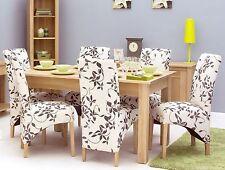 MoBEL Solid Oak Wooden Furniture 6 Seater Dining Table Large