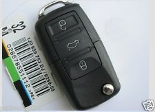 vw passat golf polo remote car key fob case and blade for 3 button Volkswagen