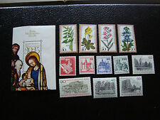 ALLEMAGNE BERLIN - timbre - yvert et tellier n° 535 a 546 bloc n° 7 n* (A1)