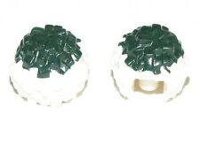 LEGO LOT OF 2 NEW DARK GREEN CHEERLEADER POM POM PIECES