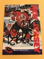 Brian Rolston Signed 94/95 Classic Hockey Card # 76