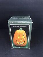 "VTG Jack O Lantern Lighted Electric 1991 6""  Pacific Rim Pumpkin 2843 Halloween"