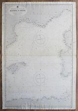 1928 Algeri a Genova MAIORCA Sardegna Francia vecchio vintage Admiralty grafico mappa
