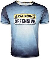 Warning Offensive Logo T-Shirt Film Movie Fan Lockout DANGER Herren Männer NEU!