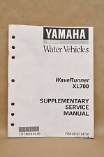 1998 Yamaha XL700 Wave Runner Shop Repair Supplementary Service Manual