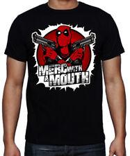 Deadpool Merc With A Mouth Guns Funny Superhero Mercenary Francis Action T Shirt