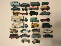 Matchbox Moko Lesney England Gray Wheel Lot of 28 Vintage Cars Trucks Grey Whl
