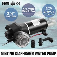 12V Diaphragm Water Pump High Pressure Caravan Yacht 17L/min Low Noise