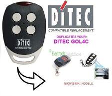 DITEC GOL4C UNIVERSALE RADIOCOMANDO TELECOMANDO COMPATIBILE.Fixed code 433.92Mhz