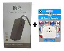 NATIVE UNION Smart Hub Bridge Charge 4 USB Ports + UK Adaptor Beige - Universal