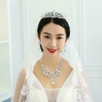 Bridal Bridesmaid Wedding Prom Crystal Rhinestone Diaman Sale Crown Best Ti X7U3