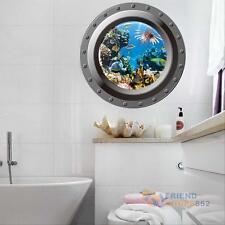 Ocean View Wall Sticker 3D Porthole Window Ducals Kids Room Home Decor Art Mural