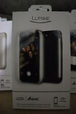 NEW LuMee Duo Dual Sided Light Up Selfie Case - Black - iPhone 7 and 6/6S