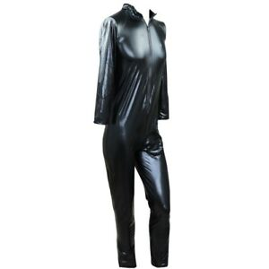 Plus Men's Leather Latex Thongs Leotard Jumpsuit Bodysuit Tight Rompers Costumes