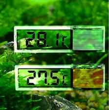 3D Fish Tank Thermometer Temp Meters Digital Water Crystal Aquarium LCD Glass UK