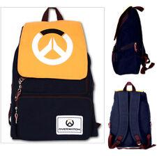 Overwatch Denim Gamers Laptop Student Backpack School Bag Anime Kawaii Unisex