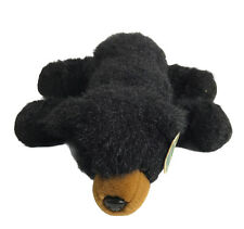 "Bearington Black Bear Stuffed Plush Baby Bandit 2010S 12"" Laying Down Animal"